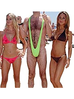 Generic Sexy Borat Mankini Costume Swimsuit Mens Swimwear Thong one size  fits for all (Green 478e13cd9c