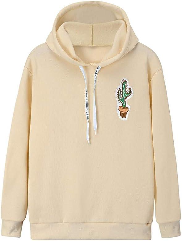 Sudadera Mujer, Cactus Sudaderas con Capucha Cortas para Mujer ...