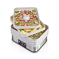 Hamilton Beach 32100A Digital Food Dehydrator Machine for Jerky, Fruit, Vegetables & more, 500 Watts