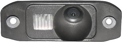Retrocamera di parcheggio per S80L S40L S80 S40 S60 V60 XC90 XC60 C70 S60L V40 R XC 70 Kalakass Colore telecamera di retrovisione con linee di griglia come luce targa