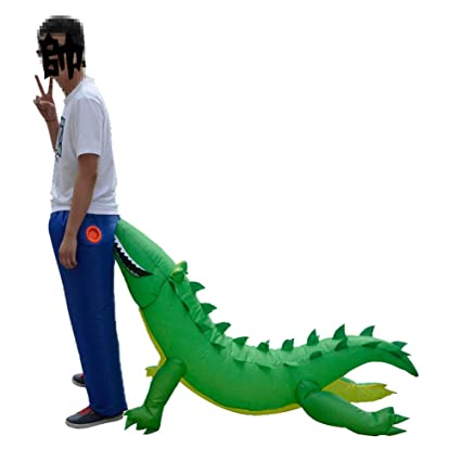 Amazon.com: CHANMI Halloween Inflable Disfraz de Cocodrilo ...