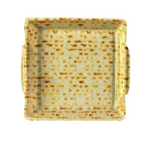 Plate Passover Matzah (Passover Vinyl Matzah Patterned Matzah Plate by Israel Giftware Designs)