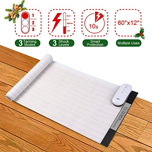 DOG CARE Pet Shock Mat Pet Training Mat for Cats Dogs 60 x 12 Inches 3 Training Modes Pet Shock Pad Indoor Use Dogs Cats Training Mat for Sofa with LED Indicator Intelligent Safety Protect
