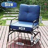 Lovinouse 2 Piece Patio Chairs Outdoor Rocking