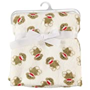 Sock Monkey Plush Baby Blanket