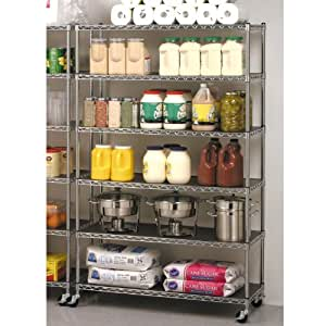 Seville Classics Commercial Industrial Storage Shelving - 6 levels