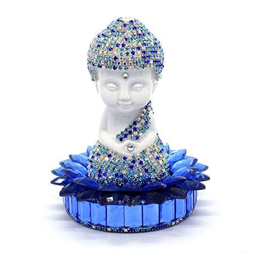 White Ceramic Lotus Bottom Buddha Perfume Holder Air Freshener Car Home Interior Decoration Blue