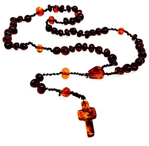 Natural Baltic Amber CHRISTIAN CATHOLIC ROSARY Meditation & Prayer (Beautiful Baltic Amber Pendant)