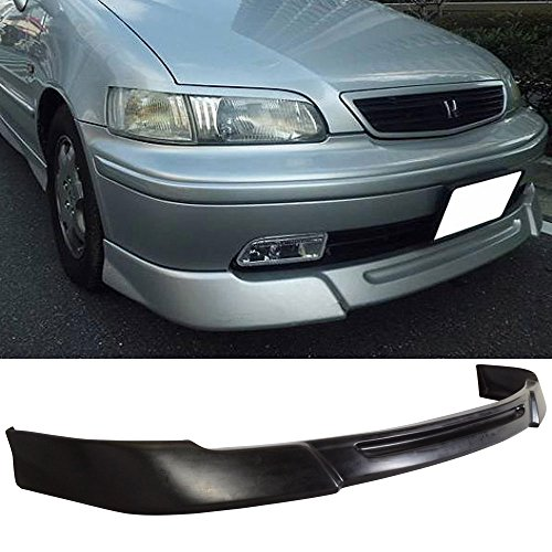 Front Bumper Lip Fits 1997-1999 Honda Odyssey All Models OEM Style Unpainted Black Spoiler Splitter Valance Fascia Cover Guard Protection Conversion by IKONMOTORSPORTS | 1998