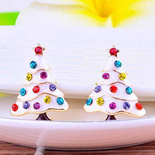 1set Girls Kids Christmas Gift Jewelry Christmas Pine Tree Ear Cuff Stud ()