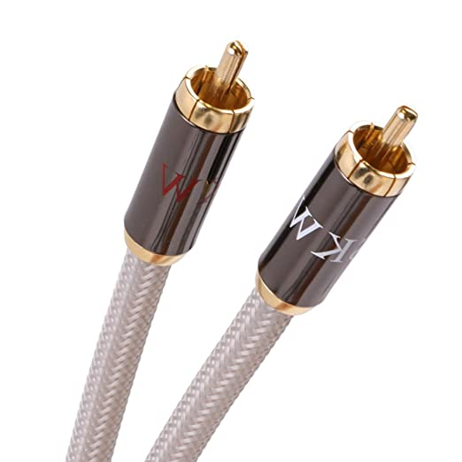 Amazon.com: Subwoofer cable, 7N OFC&SCC Audiophiles Digital Audio Coaxial Auxiliary Aux Cable 2RCA Male to 2RCA Male Stereo Audio Cable, SKW Cable for DJ ...
