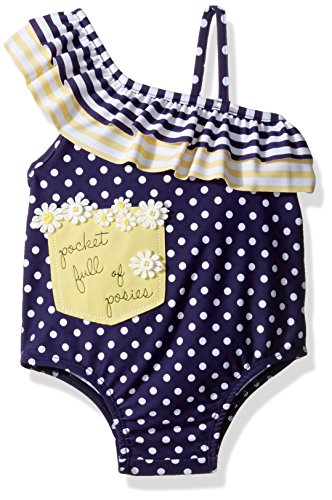 Mud Pie Girls' Swimsuit One Piece, Daisy, 5 Toddler