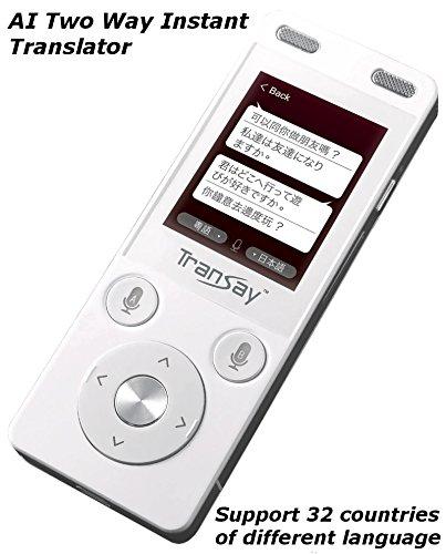TranSay MT101C 33 countrie AI Two Way Instant Digital Voice Translator device support Chinese,English,Arabic,Danish,German,Spanish,Finnish,French,Italian,Japanese,Dutch,Polish,Portugal,Russian,Swedish -
