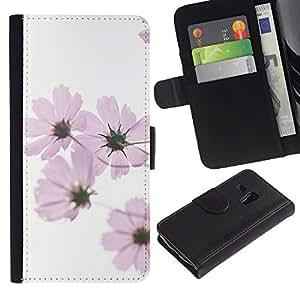 For Samsung Galaxy S3 MINI NOT REGULAR! I8190 I8190N,S-type® White Spring Pink Flowers White - Dibujo PU billetera de cuero Funda Case Caso de la piel de la bolsa protectora
