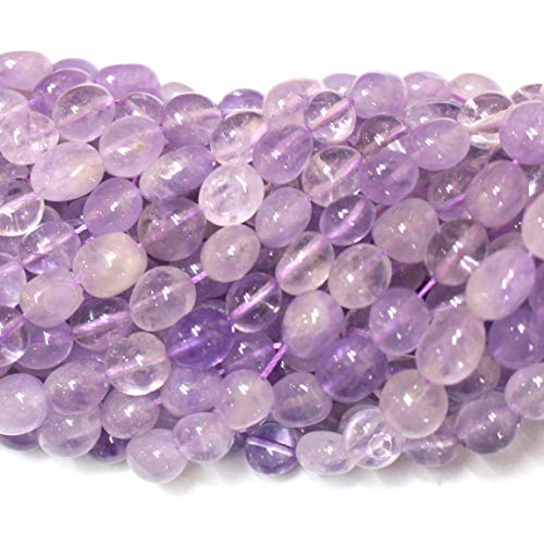- Icokarl Gorgeous Genuine Lavender Amethyst Nuggets 8mm to 10mm Natural Gemstone Loose Beads Approxi 15.5 inch DIY Bracelet Necklace for Jewelry Making