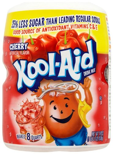 (Kool-Aid Drink Mix, Sugar Sweetened Cherry, 19 oz Container (Pack of 4))