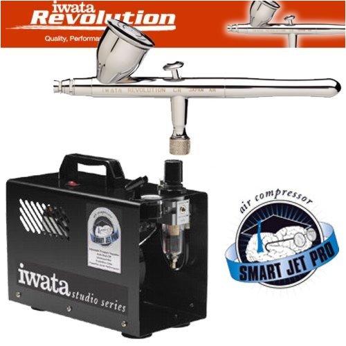Iwata Smart Jet Compressor (Iwata Revolution CR Airbrushing System with Smart Jet Pro Air Compressor)