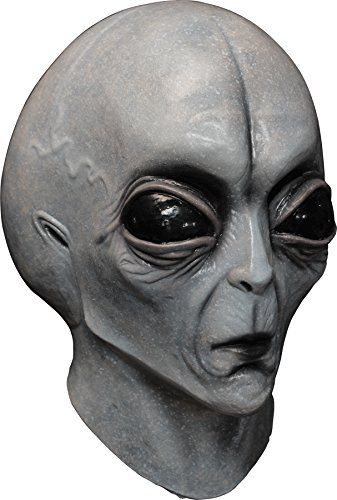 Ghoulish Men's Creepy Area 51 Alien Latex Mask Halloween Costume Accessory -