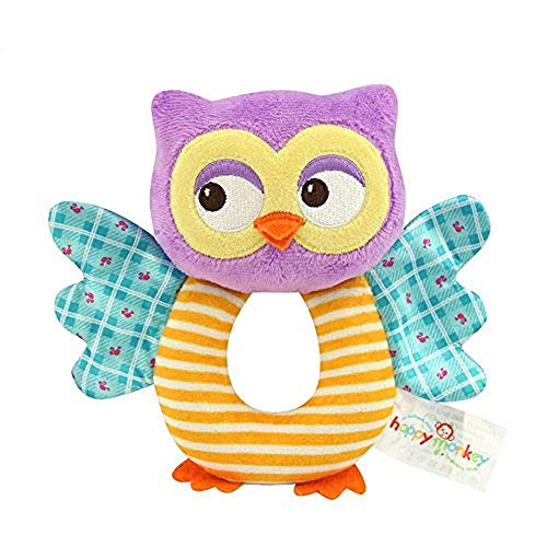 teytoy Owl Soft Rattle Toy for Over 0 Months