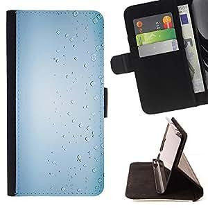 For Sony Xperia M5 E5603 E5606 E5653 Case , Las gotas de lluvia Blanco brillante Agua- la tarjeta de Crédito Slots PU Funda de cuero Monedero caso cubierta de piel
