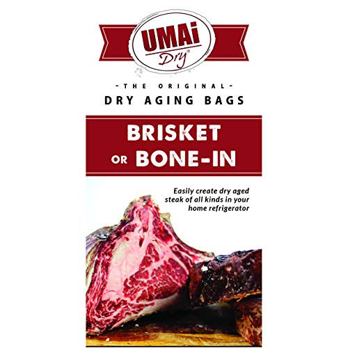 UMAi Dry Brisket Bone-in Premium Dry Age Bags for Meat | Dry Aging Meat Kit for Refrigerator | Simple at Home Method | Packet Includes 3 UMAi Dry Bags Sized for Larger Cuts