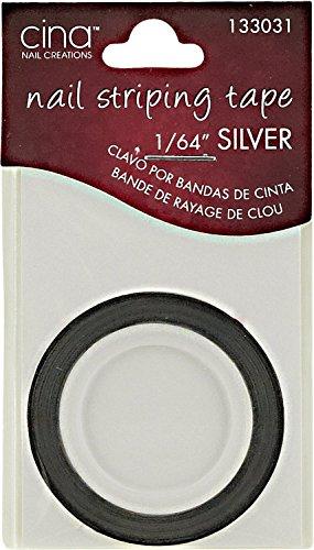 Cina Nail Creations Silver Nail Striping Masking Tape Silver