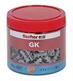 Fischer plasterboard Fixing Dowel GK Box, Pack of 160Plus 1Tool Set, 531028