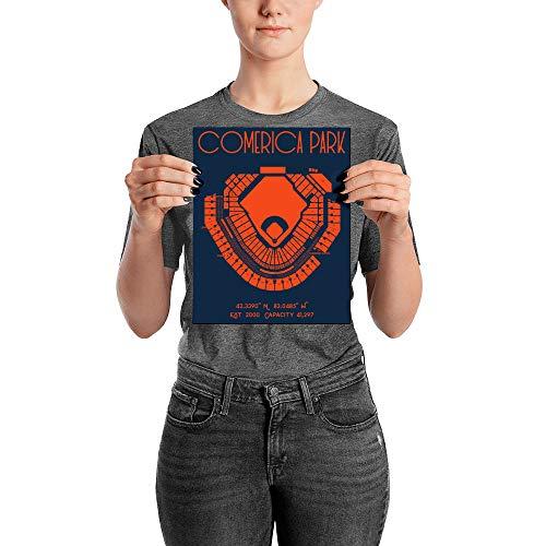 (Detroit Tigers Comerica Park Stadium Poster Print)