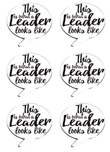 This is What a Leader Looks Like Award Pins, 6 Count
