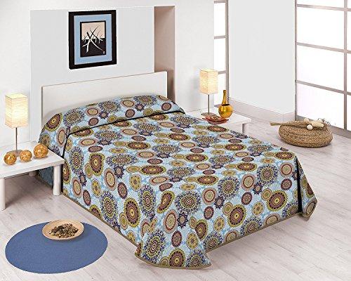 SABANALIA - Colcha Estampada Mandala (Disponible en Varios tamanos) - Cama 180-280 x 280