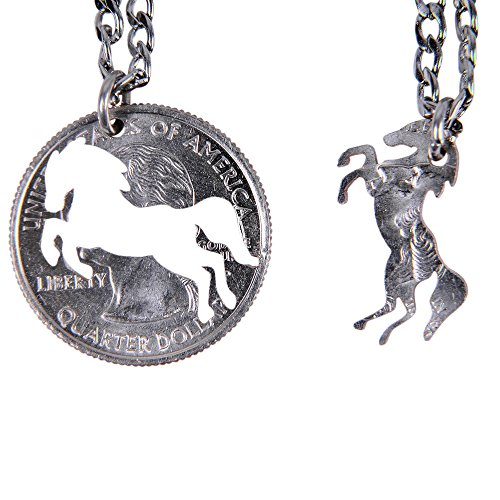 Marycrafts Set Hand Cut Coin Horse Necklace Interlocking Necklace Jewelry Relationship BFF - Necklace Cut Coin