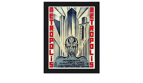 Metropolis, Art Deco cartel de película de ciencia ficción ...