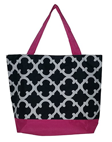 Fashion Print Zippered Webbed Handles