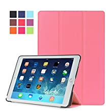 Protection Housse pour Apple iPad Air 2 9.7 Pouce Smart Slim Case Book Cover Stand Flip iPad 6 (Rose) NEUF
