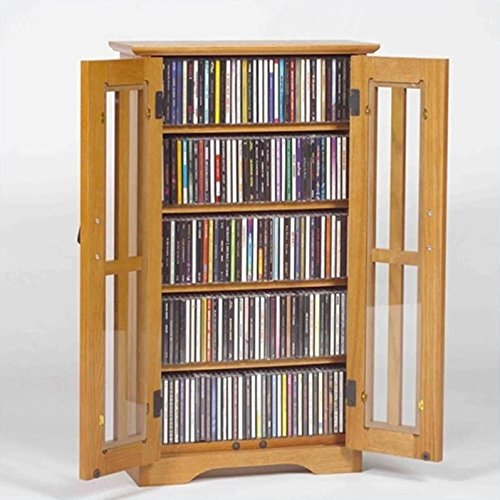 Pemberly Row Wall Hanging Multimedia Cabinet in Oak by Pemberly Row