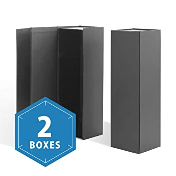 Packhome Wine Gift Boxes 13 5x4 5x4 Inches Bottle Gift Boxes For Liquor And Champagne Magnetic