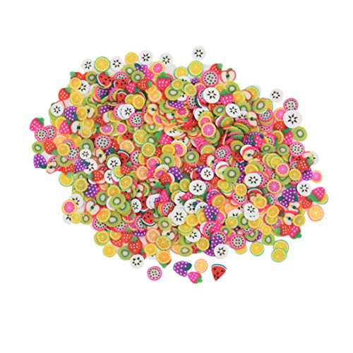 OUFENLI 3D Apple Orange Kiwi Fruit Candy Color Soft Ceramic Nail Art DIY Decorations Tools Slices Polymer Clay Fashion Beauty (B)