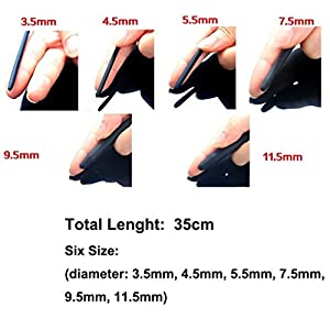 Length 35cm Handled Urethral Stretching Bladder Toys Relieve Stress Toys For Men Relaxing (5.5mm(dia), black)