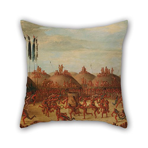 alphadecor-oil-painting-george-catlin-the-last-race-mandan-o-kee-pa-ceremony-throw-pillow-covers-bes