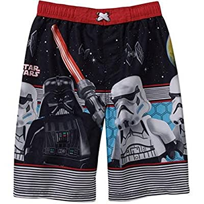 LEGO Star Wars Dark Vader Boys Swimsuit Trunks Size 8