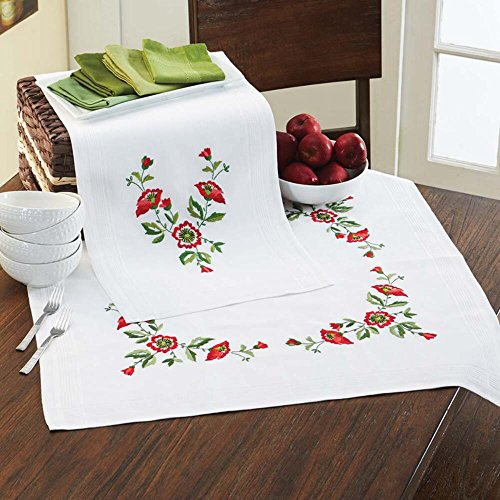 Herrschners® Candida Table Runner Stamped Embroidery Kit