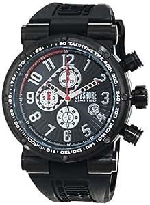 Offshore Limited OFF002A- Reloj analógico de cuarzo para hombre con correa de silicona, color negro