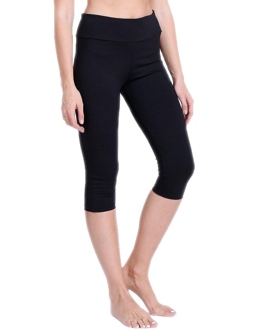 CROSS1946 donne Capri corsa leggings traspirante fitness dimagrante 3/4pantaloni di yoga allenamento elastico pantaloni