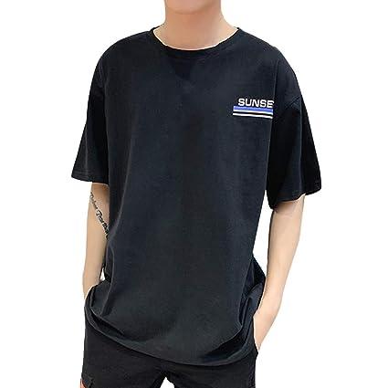 Camisas Hombre Manga Corta Estampadas Camiseta Casual de Manga ...