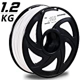 3D Printer - 3D MARS White 3D Printing Filament,3D Printer Filament 1.75mm PLA,Dimensional Accuracy +/- 0.05mm,1.2kg Spool,1.75 mm PLA 3D Filament for Most 3D Printer & 3D Printing Pen