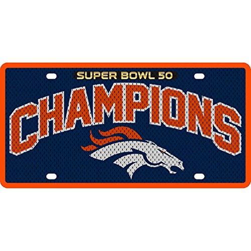 Stockdale Denver Broncos Super Bowl 50 Champions Jersey Printed Acrylic License Plate