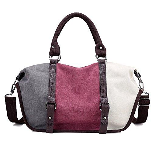 Bag Satchel Hobo Vintage Bags Body Unisex Messenger Cross Bucket Gurscour Bag School Bag Women Red Bag Men's Bag 1060 Travel Canvas 827 EU Shouder Canvas Handbag wine nCxUqz