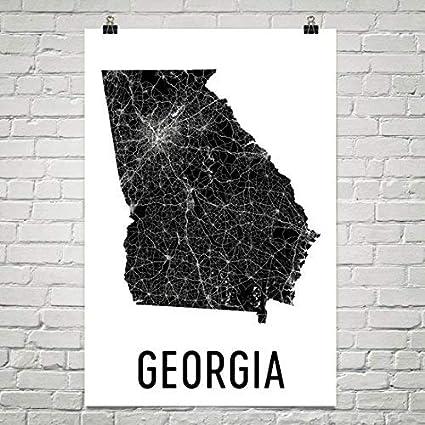 Show Map Of Georgia.Amazon Com Georgia Map Georgia Art Georgia Print Georgia Wall