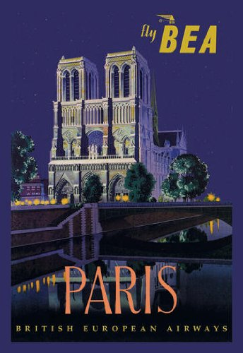 Be Paris and Notre Dame Cathedral poster