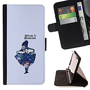 MINIMALIST TEXT KIDS LADY FAIRYTALE CHILD/ Personalizada del estilo del dise???¡Ào de la PU Caso de encargo del cuero del tir????n del soporte d - Cao - For Apple Iphone 4 / 4S